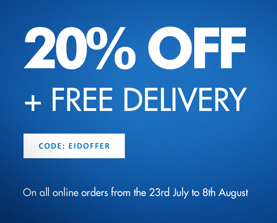 Eid Offer - 20% OFF + Free Delivery