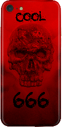 Galaxy S8 Plus Red Skull 3D Pattern