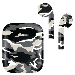 AirPods v1 Army Camo Monochrome