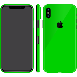 iPhone X Neon Green