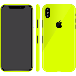 iPhone X Neon Yellow