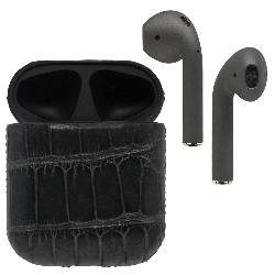 Black Label AirPods - Phantom Alligator