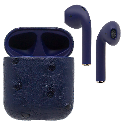 Black Label AirPods - Blue Ostrich