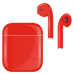 Apple Airpod v2 with Standard Charging Case Ferrari Red