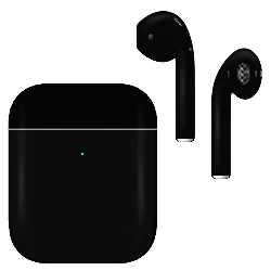 Apple Airpod v2 with Wireless Charging Case Jet Black Matte