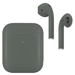 Apple AirPods v2 with Wireless Charging Case Midnight Green Matte