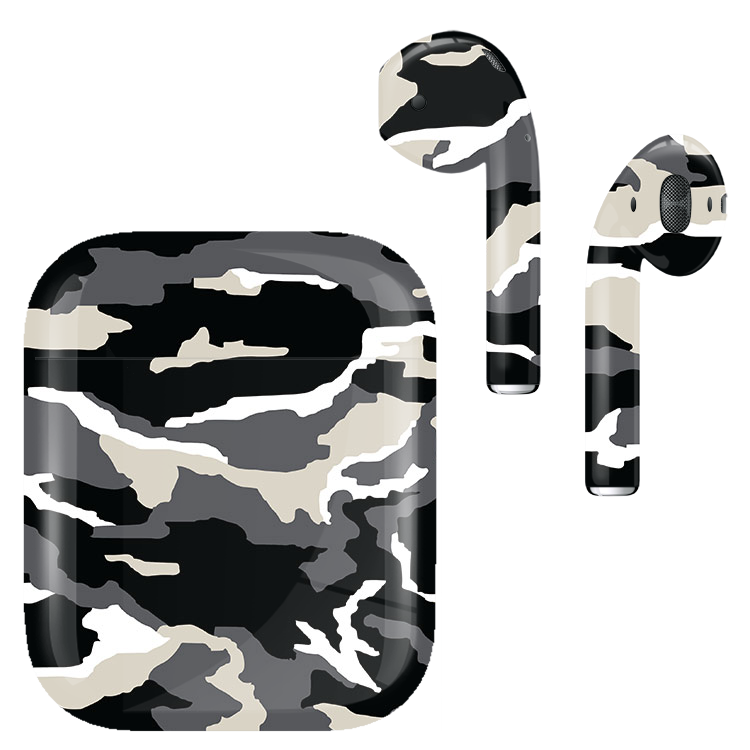 pretty nice 268a5 cd300 AirPods v1 Army Camo Monochrome
