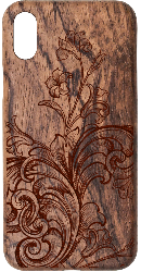 iPhone X Wood Case Victorian Style