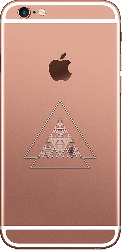 iPhone 6S Plus Rose Gold Geometric Abstract 002