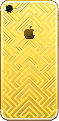 iPhone 7 Gold Abstract 03