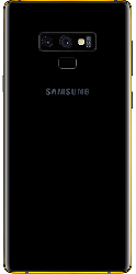 Note 9 Gold Plated 24K Accents - Midnight Black