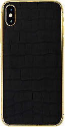 iPhone XS Gold with Alligator Leather