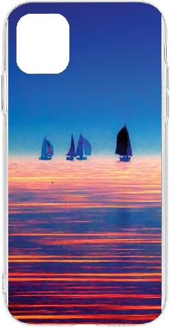 iPhone 11 Pro Max Clear Case Boats