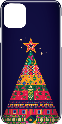 iPhone 11 Pro Max Hard Case Colorful Christmas Tree