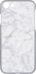 iPhone 7 Bumper + Printable Back Panel Silver Textured White Marble