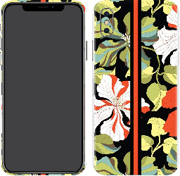 iPhone X Skin Matte Floral 01