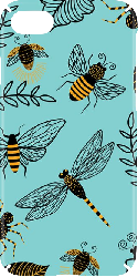 iPhone 7 Hard Case Matte Insects Pattern 02