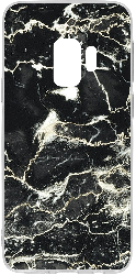 Galaxy S9 Clear Case Black Marble