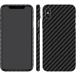iPhone X Black Carbon Fiber