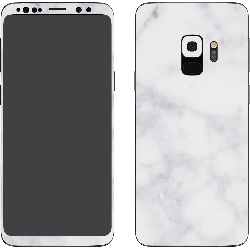 Galaxy S9 Textured White Marble (Printable)